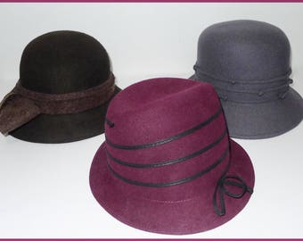 Nice lot of 3 vintage felt bucket hats  M/L  in excellent condition.