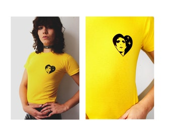 Ltd Edition Hand Screen Printed LOU REED 'Transformer Heart' Design Velvet Underground, Punk , Glam 100% Cotton Tee's