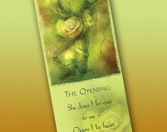 The Opening Bookmark - Bookmarker - Bookmarking - Bookmarks for Books - Book Mark - Reading Bookmark - Wild Cat Art - Tree Art