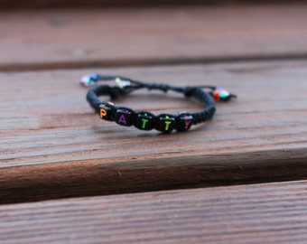 Custom Name Beaded Hemp Bracelet