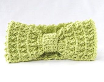 3-6 month, Grass Green Bow Headband, Ready to Ship