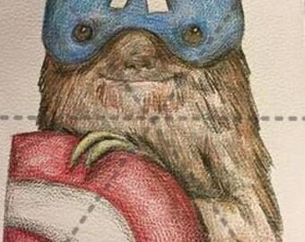 Captain Ameri-sloth: 5x7 Print
