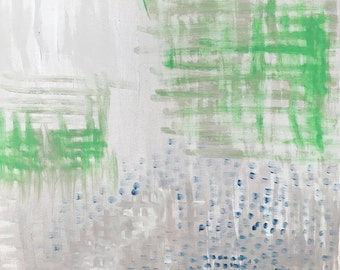 Abstract Painting. Original Abstract Painting, Acrylic on Canvas, Gray Green Color Painting, Modern Art, Modern Painting, Acrylic Painting