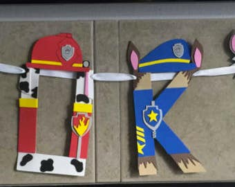 Paw Patrols Birthday Banner Letters