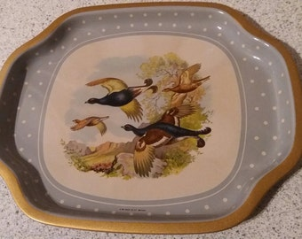 Vintage tin picture tray