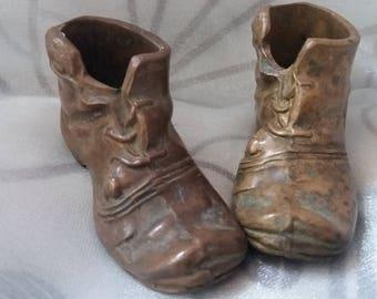 Minature brass shoes
