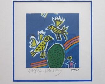 Corneille - Original signed limited edition silkscreen - Custom framed - mint condition - cobra art