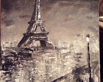Abstract Paris painting