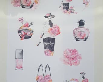 Planner bag girl stickers stickers