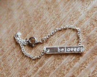 beloved bar bracelet