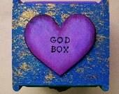 God box, decorated box, prayer box, intention box, keepsake or trinket box