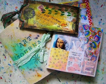 Art journals, how to make them uniquely yours, journals, handmade books, shabby chic