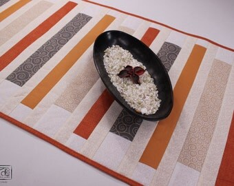 Runner table, strip, striped cotton, patchwork centerpiece