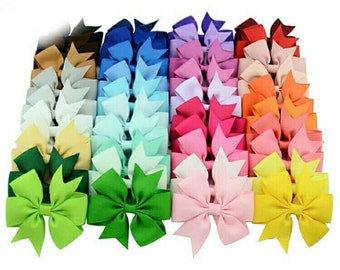 15 hair bows for girls with alligator clip for 12,00 /ready to ship/3 inch Bows