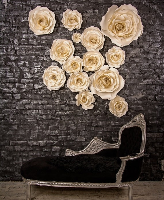 Set Of 14 Paper Roses Flower Wedding Arch
