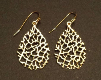 Branched Gold Earrings