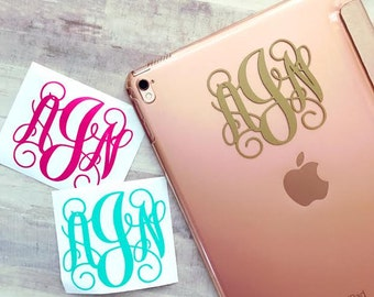 Monogram Decal for iPad