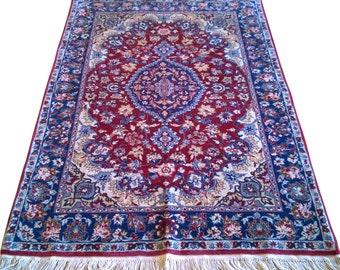 Turkish Rug Oriental Rug 4.06 x 6.12 ft Hereke Carpet Rug Area Rugs Hereke Rugs Ottoman Hereke Rugs Palace Carpet Floral Turkish Hereke Rug