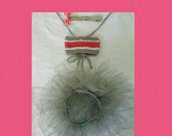 Infant Girls' Crochet Bandeau Top, Headband & Tutu