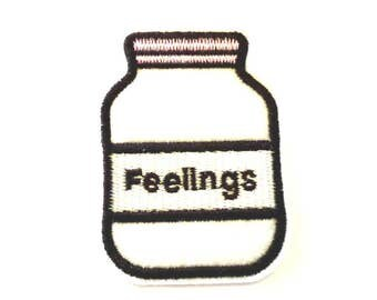 Bottled up Feelings Iron on Patch - H202
