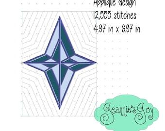 Quilt design- North Star applique