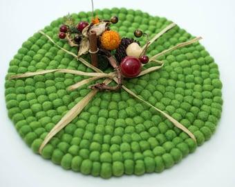 Green Felt Placemats