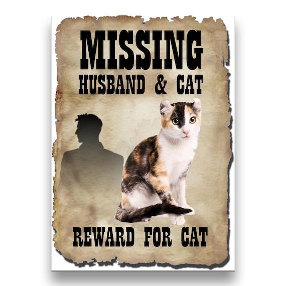 American Curl Cat Husband Missing Reward Fridge Magnet No 1