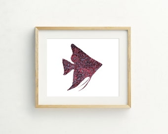 Purple Fish Print