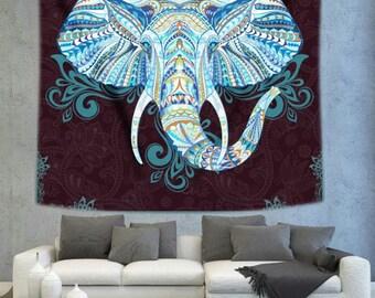 Elephant trunk Mandala wall tapestry, mandala art wall hanging, wall decor tapestry, bohemian wall tapestry