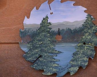 Trees -Smoky Mountain Art - Saw Blade