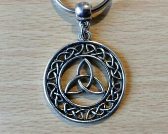 Celtic knot keyring, trinity knot keychain, celtic triquetra bag charm