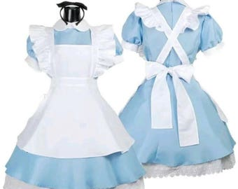 Alice in wonderland various styles cosplay blue dress