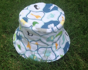 Baby hat, Cotton hat, Toddler hat, Summer hat, Beach hat, Sun hat, Childs hat , Newborn hat, Bucket hat, Reversible hat, 100% Cotton