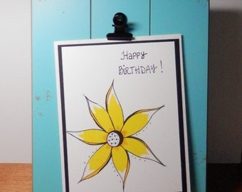 Birthday Card, Greeting Card, Happy Birthday, Handmade Original Card