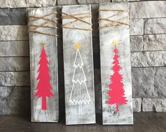 Christmas Tree Signs (Set of 3)