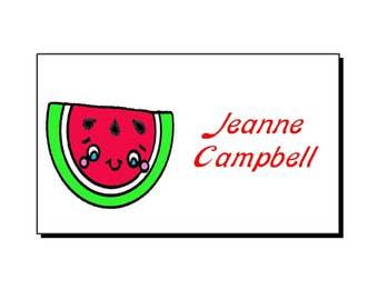 So Kawaii Watermelon Personalized Gift Tags Set/10