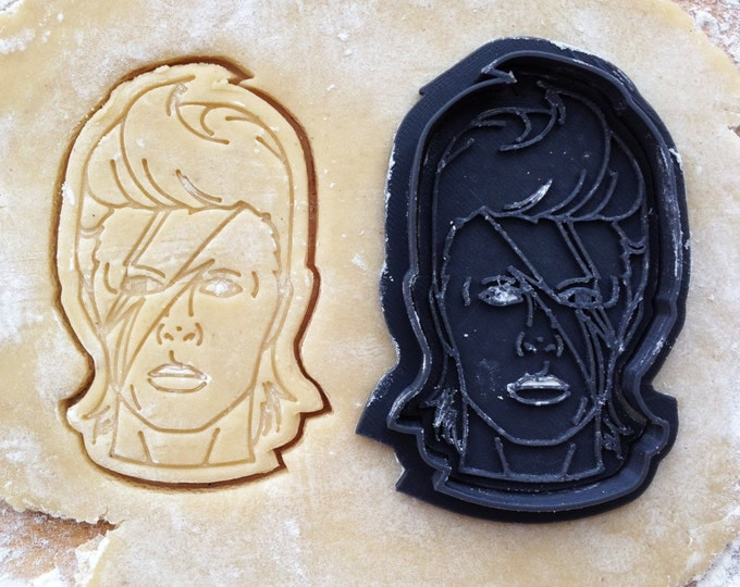 David Bowie face cookie cutter. Ziggy Stardust cookie cutter. David Bowie cookies