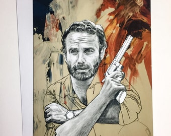 Walking Dead -  Andrew Lincoln/Rick Grimes A5 Card