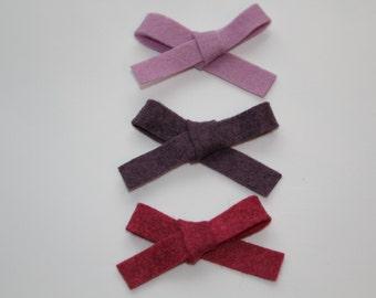 Bow || Headband bow || Hair clip || Felt bow || Hair accessorie || Baby girl || Baby shower || Gift for baby girl ||