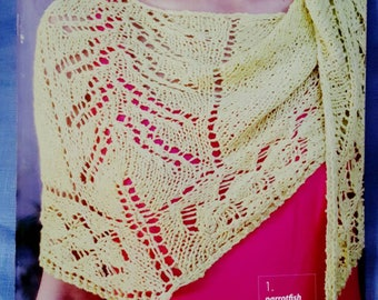 Berroco Linus Book 342 6 Beautiful Knitting Patterns for Sweaters, Shawl, Cowl and Scarf -New