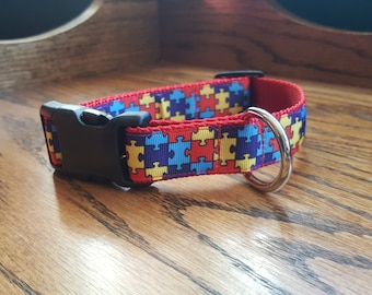 Autism Puzzle Piece Dog Collar