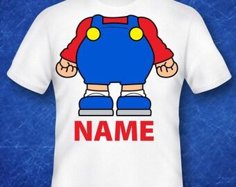 BABY Mario, Mario shirt, Mario gift, Mario costume, Mario birthday