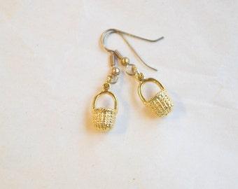 Tiny Basket Earrings