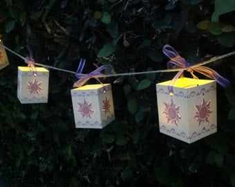 Unique Tangled Lanterns with included tea lights. Decorative Lights. kids room decor, birthday party Decor