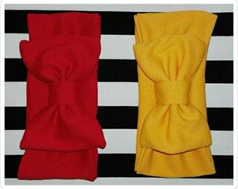 Giant bow headband - headband bow - Baby headband with bow - red headband with bow - yellow headband with bow