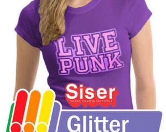 """Siser Glitter HTV - Glitter Heat Transfer Vinyl - Sheets of 12x20"""" Glitter Heat Transfer Vinyl - Siser Brand"""