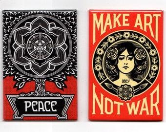 Obey // Magnet 2-Pack / Make Art Not War & Peace