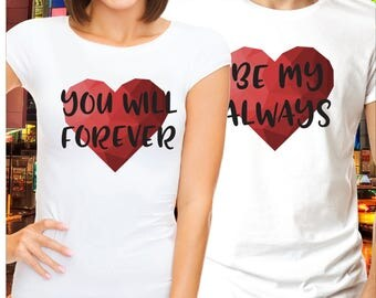 Matching couple shirts / couple shirts / his and hers shirts / wedding t shirts / wifey and hubby shirts / matching couple outfits