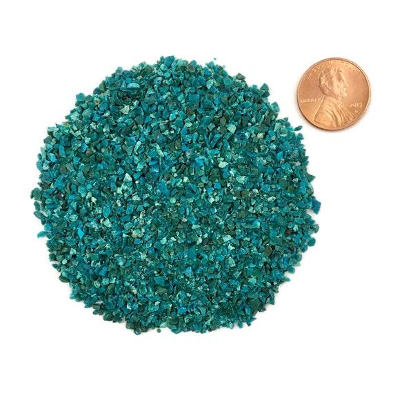 Crushed Gemstone For Inlays : Crushed dark chrysocolla stone inlay medium ounce