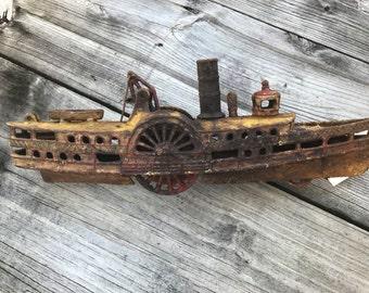 Vintage river boat toy